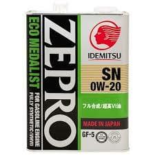 Синтетическое Моторное Масло Idemitsu ZEPRO ECO Medalist 0w-20