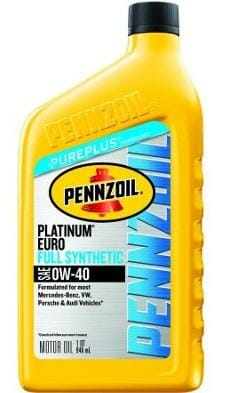 Cинтетическое Моторное Масло Pennzoil Euro 0W-40