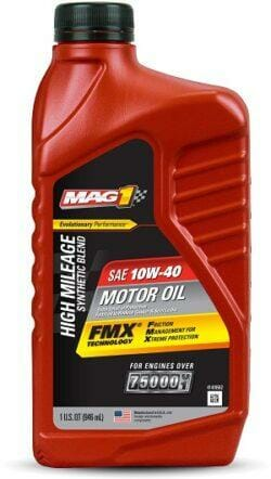 Полусинтетическое Моторное Масло MAG 1 High Mileage Synthetic Blend 10w-40