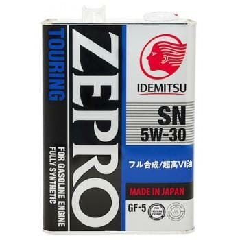 Синтетическое Моторное Масло Idemitsu ZEPRO Touring 5w-30