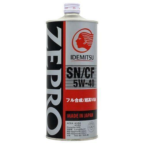 Синтетическое Моторное Масло Idemitsu ZEPRO EURO SPEC 5w-40