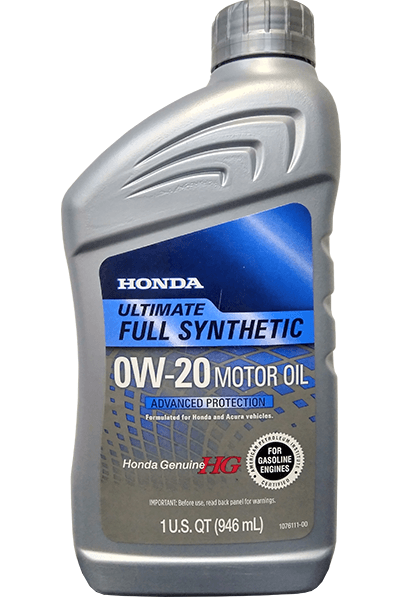 Cинтетическое Моторное Масло Genuine Honda Full Synthetic 0W-20